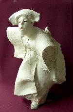 <p>From sculptor David Bryce a wonderful 21&quot; H by 13&quot; W by 13&quot; D terra cotta pigmented statue titled, &quot;Intrigue&quot;. Bryce has been a featured artist in numerous galleries and exhibitions nationally. In excellent condition. Additional shipping charges may apply.</p>