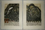 <p>Two framed limited edition woodblock prints by Ray Morimura, 'Itsukushima', 44/60 and 'Togetsukyo' 45/60, both dated 2004. Each print framed size 21&quot; by26.5&quot;.&nbsp; Sold as a pair these stunning woodblock prints are in excellent condition.</p>