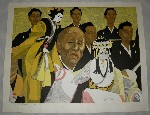 <p>Fabulous woodblock print, &quot;Puppet Master&quot; or &quot;Bungoro on Stage&quot;, by Junichiro Sekino, artist proof, 3/25, circa 1953.&nbsp; This beautiful framed print measures 35&quot; by 29&quot;.&nbsp; In excellent condition.</p>