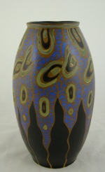 <p>Rare early 12&quot;&nbsp; Boch Freres Keramis vase, D970, F895, circa 1925.&nbsp; In excellent condition and signed by Charles Catteau.</p>
