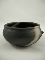 <p>Beautiful large teabowl, 2.5&quot; by 5&quot;, by John Leach, son of David Leach and founder of Muchelney Pottery.  Called 'Black Mood' our teabowl is in excellent condition.</p>
