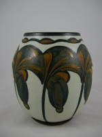 <p>Rare Boch Freres Gres Keramis stoneware7&quot; vase, D1006 F900, circa 1925.  This particular design was shown at the Paris Exhibition of 1925. Signed by Charles Catteau.  In excellent condition.</p>