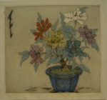 <p>Elyse Lord etching, &quot;Zinnias&quot;, 100/100, 1920s.&nbsp; Some minor foxing, in otherwise excellent condition.&nbsp; Framed size is 17 3/4&quot; by 18&quot;.</p>