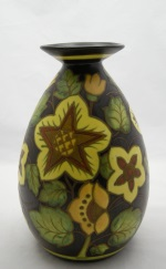 <p>Stunning 10&quot; matte enamel Boch Freres Keramis vase, D2784, F945, 1941.&nbsp; Signed by Jean Verheyelwegen, our vase is in excellent condition.</p>