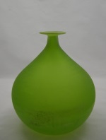 <p>Fabulous Murano 9&quot; Scavo glass vase by Italian glass  artist Gino Cenedese, circa 1970s.  Scavo is a technique where the  glassmaker rolls the hot glass in salts and ashes to create a matt  surface similar to excavated Roman and Etruscan glass.  In excellent  condition.</p>