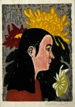 <p>One of the oldest and rarest potraits by Kiyoshi Saito, a portrait of a girl with flowers,1948.&nbsp; Our woodblock print is in excellent condition.&nbsp; The framed size is&nbsp; 17&quot;by 22&quot;.</p>