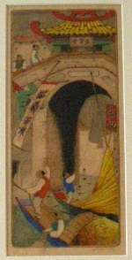 <p>Charming hand colored etching, &quot; Water Gate&quot;, 4/100, circa 1920-1930 by Dorsey Potter Tyson.&nbsp; Framed size is 10.5&quot; by 15.75&quot;. In excellent condition.</p>