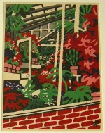 <p>From reknowned Sosaku Hanga woodblock print artist, Hide Kawanishi is an early woodblock print, &quot;Green House&quot;, 1939. Gr'een House' is in the Carnegie Museum of Art collection. Framed size is 21&quot; by 17&quot;.&nbsp; In excellent condition.</p>