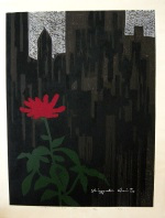 <p>Rarely seen woodblock print, 'New York, (A)' by Kiyoshi Saito, 34/50, 1963.&nbsp; In excellent condition.&nbsp; Framed size is 26&quot; by 32&quot;.</p>