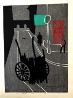 <p>&quot;In Paris (3)&quot;, a rare woodblock print by Kiyoshi Saito, 3/150, 1961. In excellent condition, our framed print measures 24&quot; by 29.5&quot;.</p>